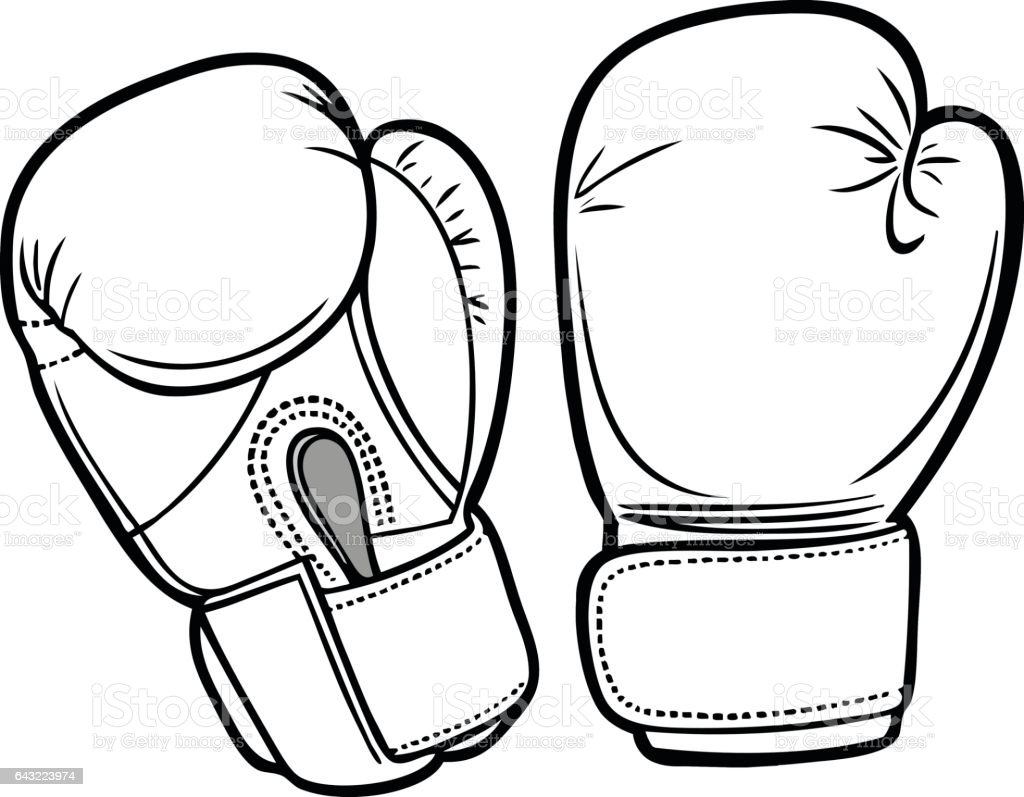 boxing gloves illustration royalty free stock vector art