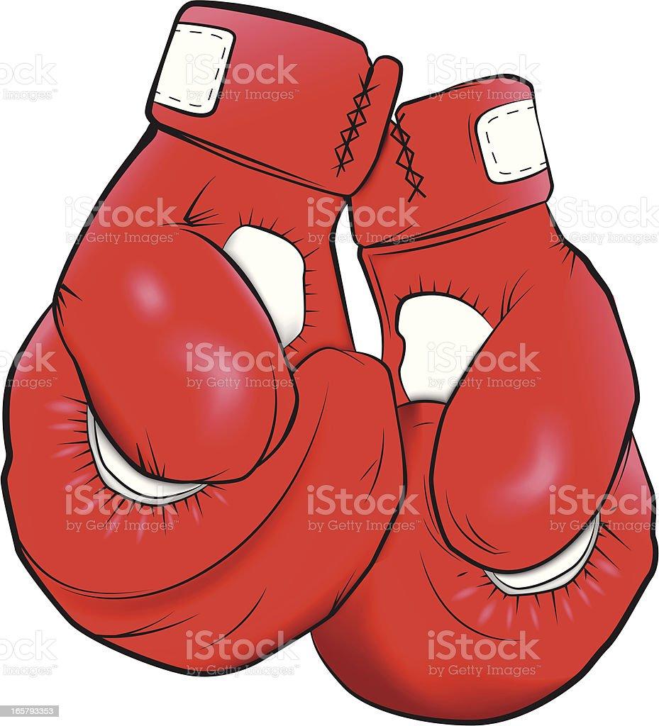 Boxing Gloves vector art illustration