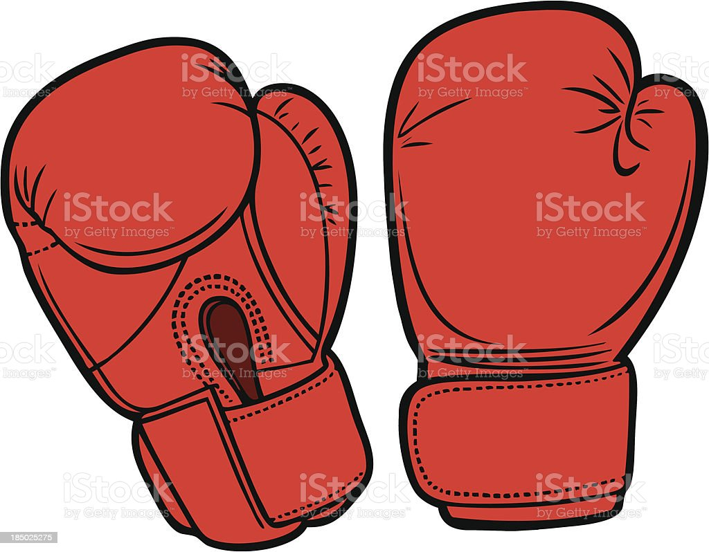Boxing Gloves vector art illustration