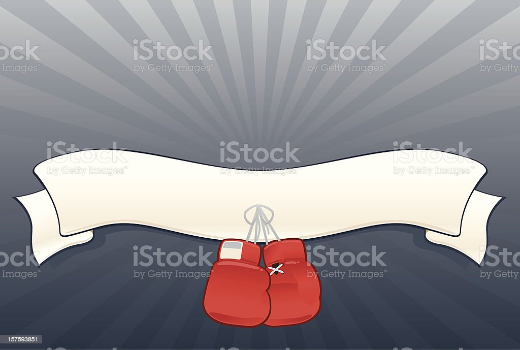 Boxing Gloves with Banner royalty-free stock vector art