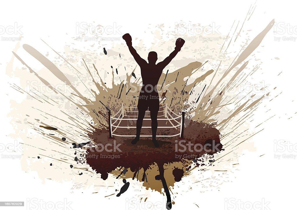 Boxing grunge vector art illustration