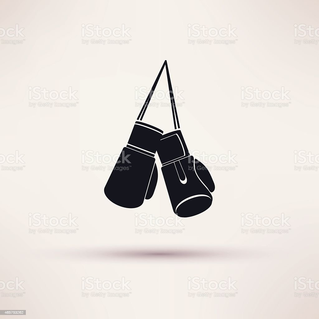 Boxing label and icon in flat style. Vector. vector art illustration
