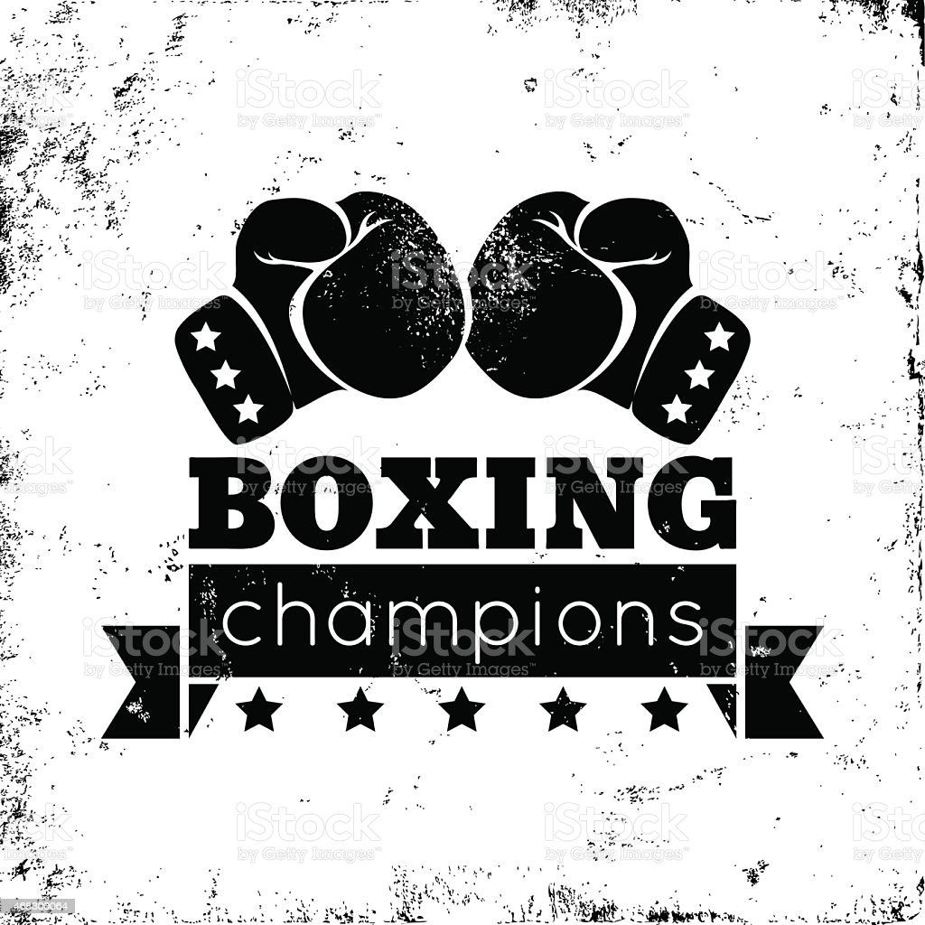 Boxing logo vector art illustration