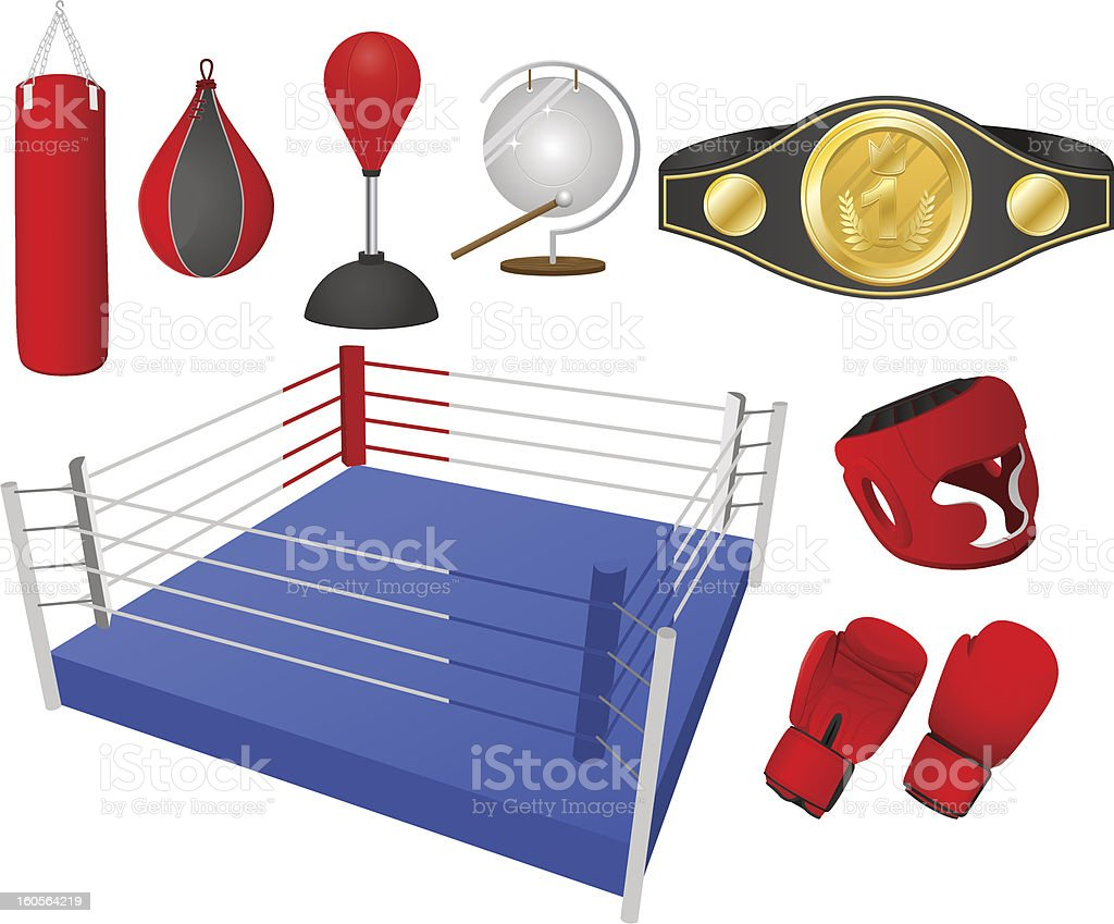 Boxing objects royalty-free stock vector art