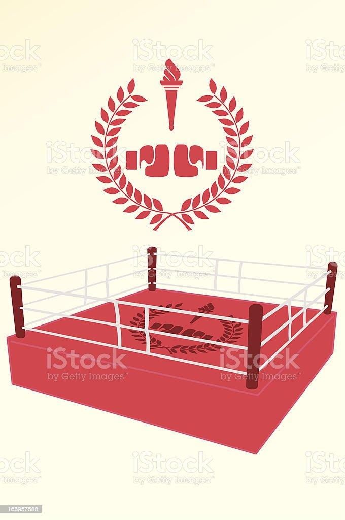 Boxing poster and emblem vector art illustration