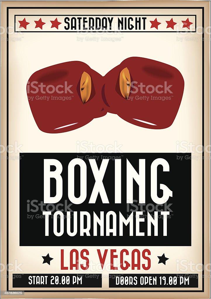 Boxing poster vector art illustration