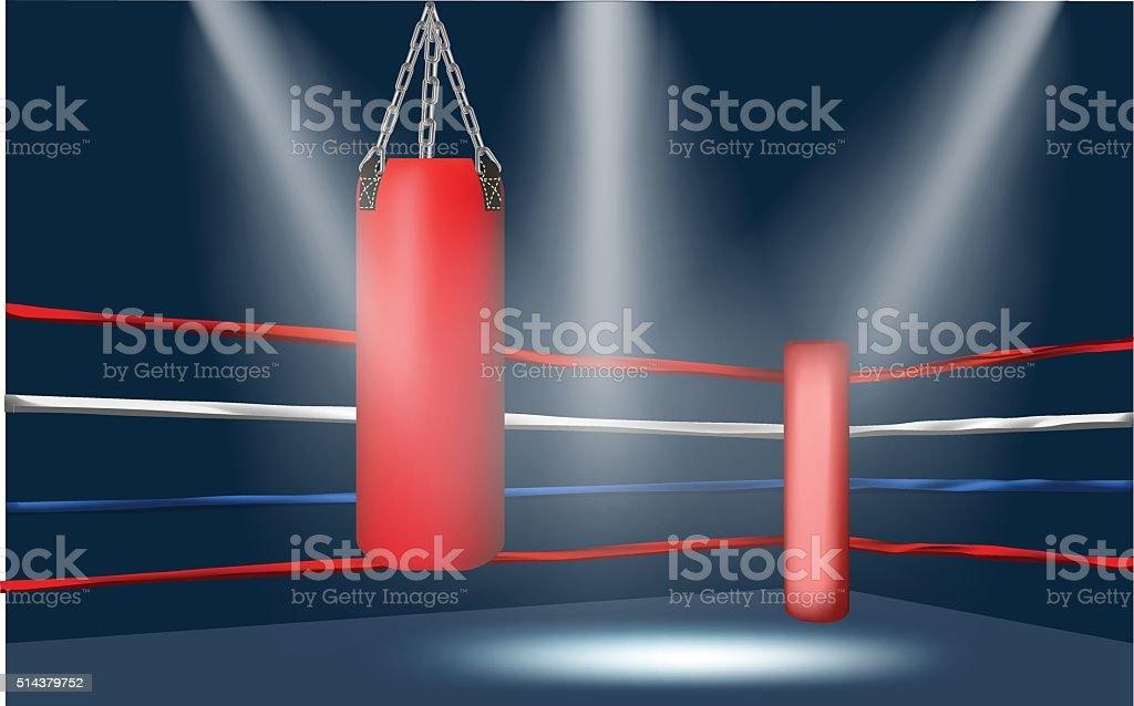boxing ring corner vector art illustration