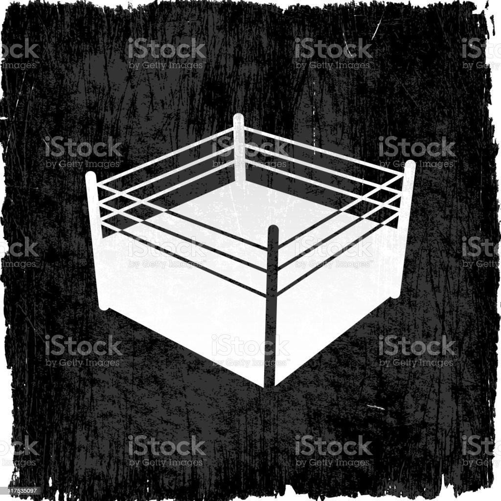 boxing ring grunge background vector art illustration