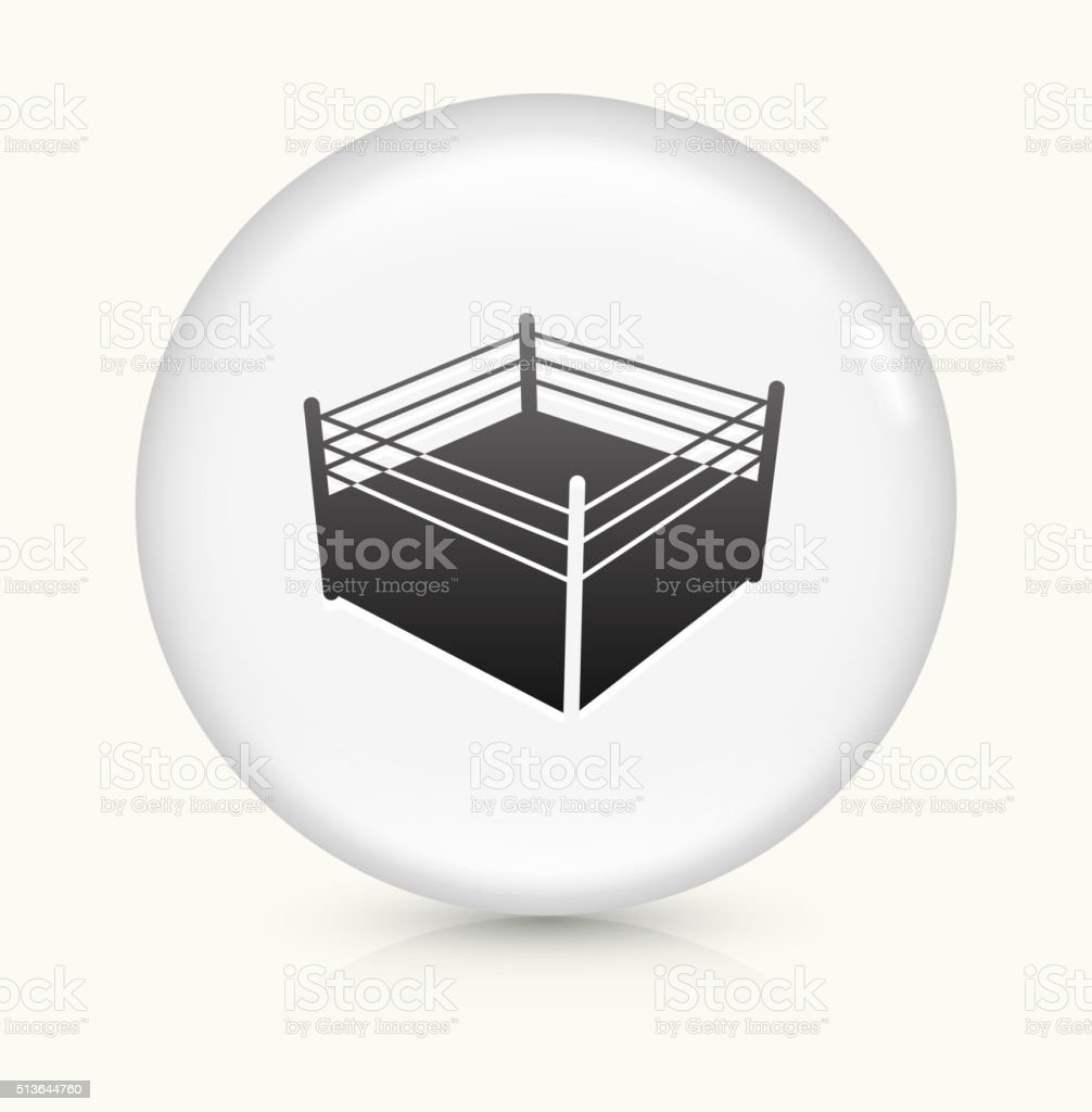 Boxing Ring icon on white round vector button vector art illustration