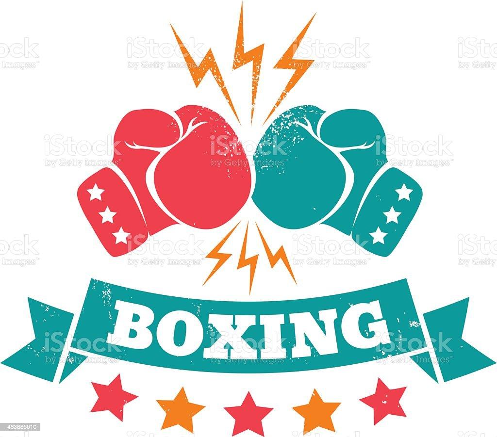 Boxing vector art illustration