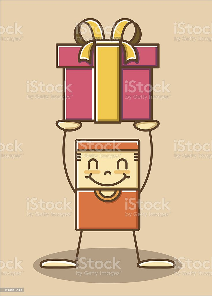 boy and gift royalty-free stock vector art