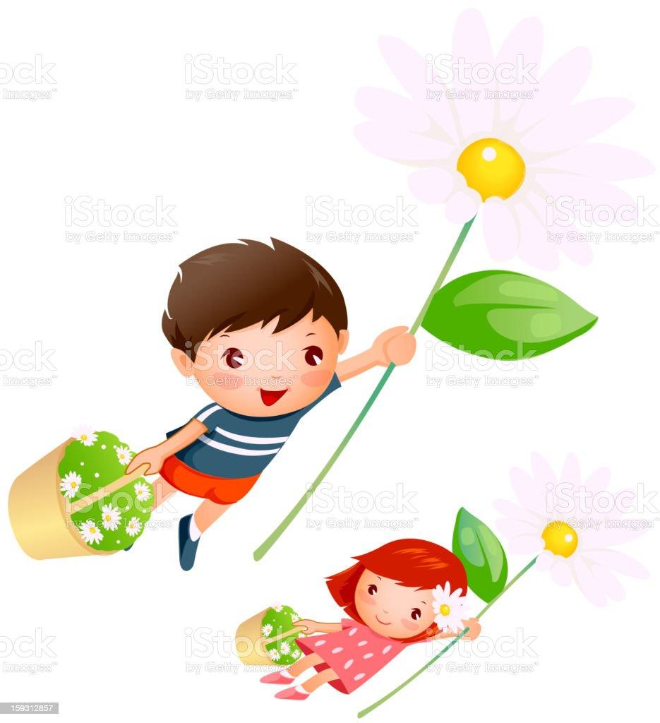 Boy and Girl royalty-free stock vector art