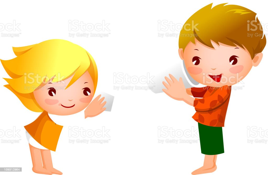 Boy and Girl royalty-free stock vector art