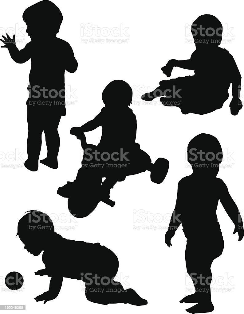 Boy at Play royalty-free stock vector art