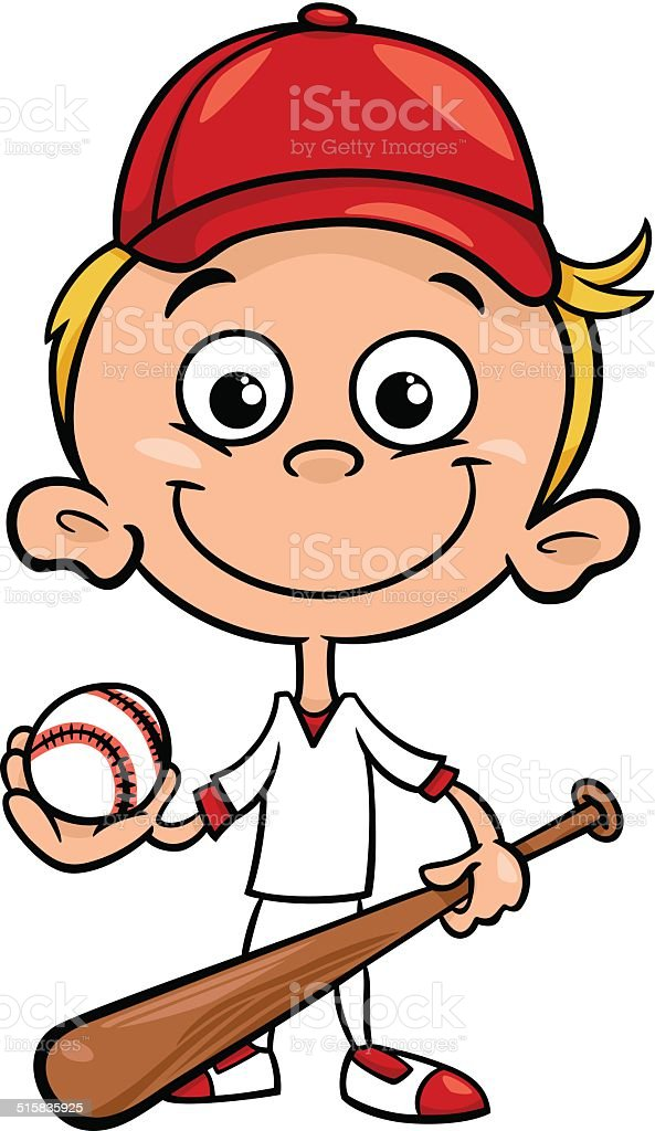 Kids Baseball Clip Art, Vector Images & Illustrations - iStock
