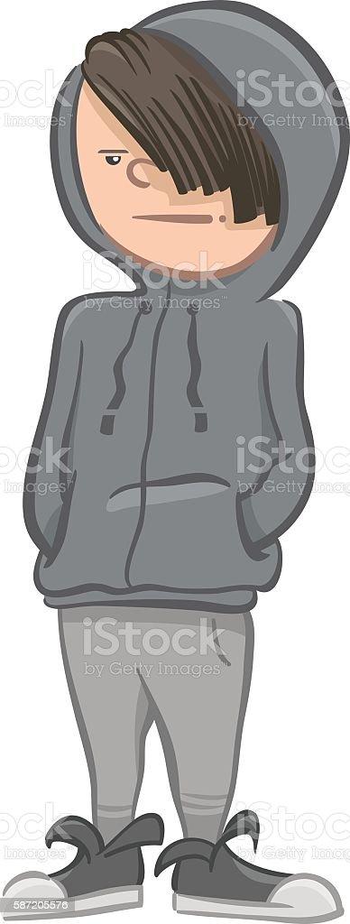 boy character cartoon illustrattion vector art illustration