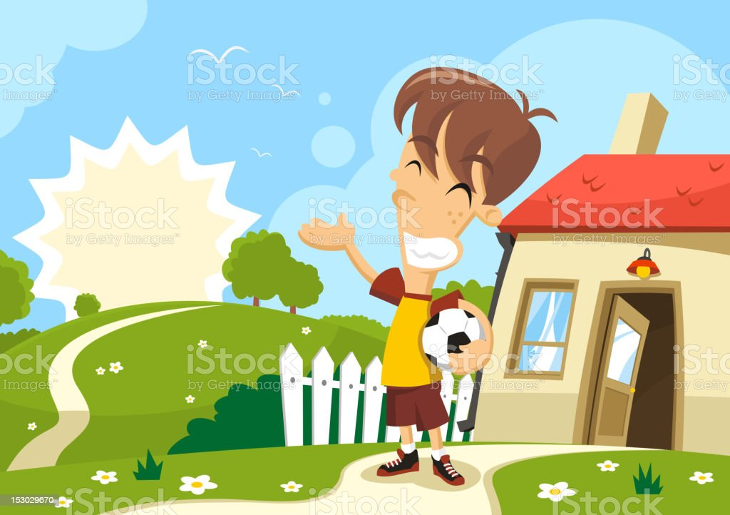 great day out vector art illustration