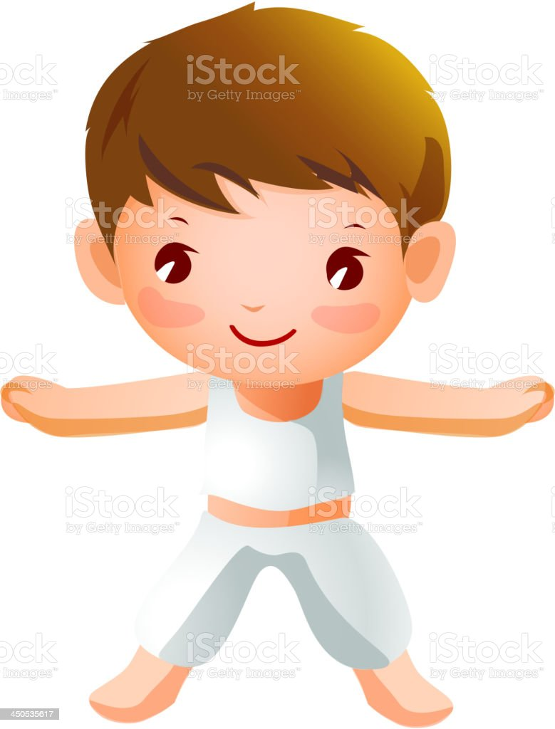 Boy Exercising royalty-free stock vector art