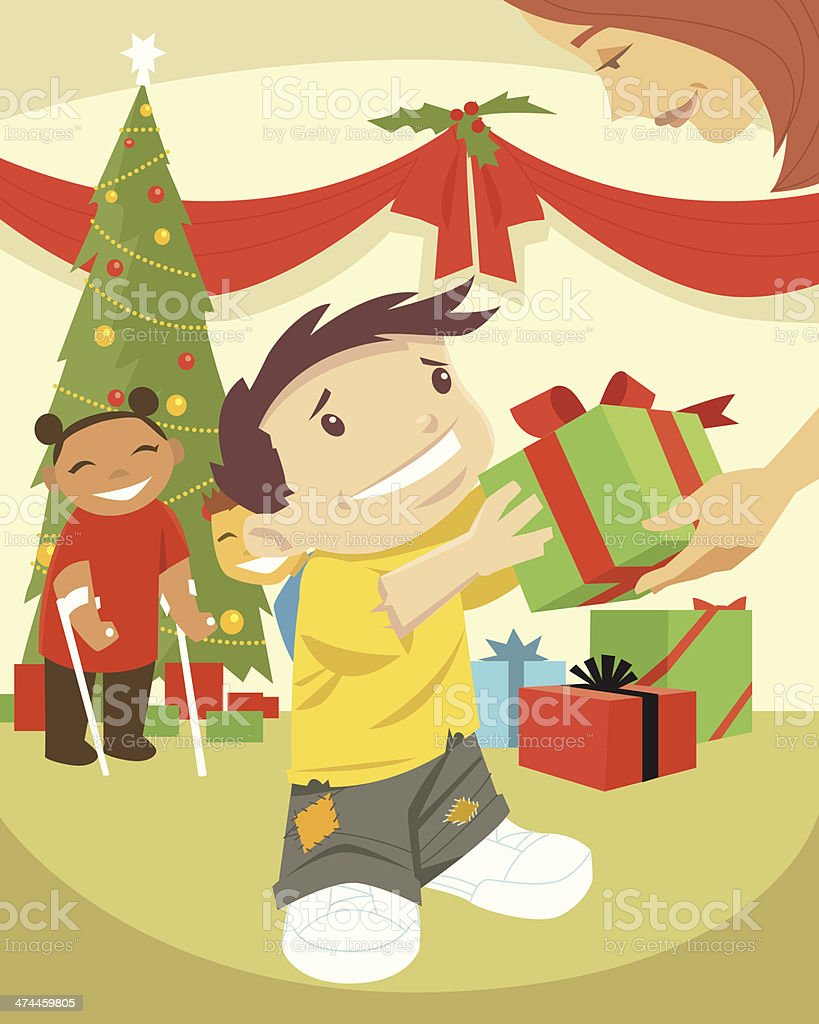 Boy Girl Gifts C royalty-free stock vector art