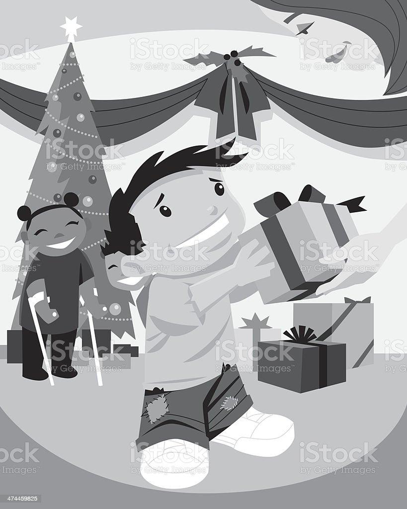 Boy Girl Gifts royalty-free stock vector art