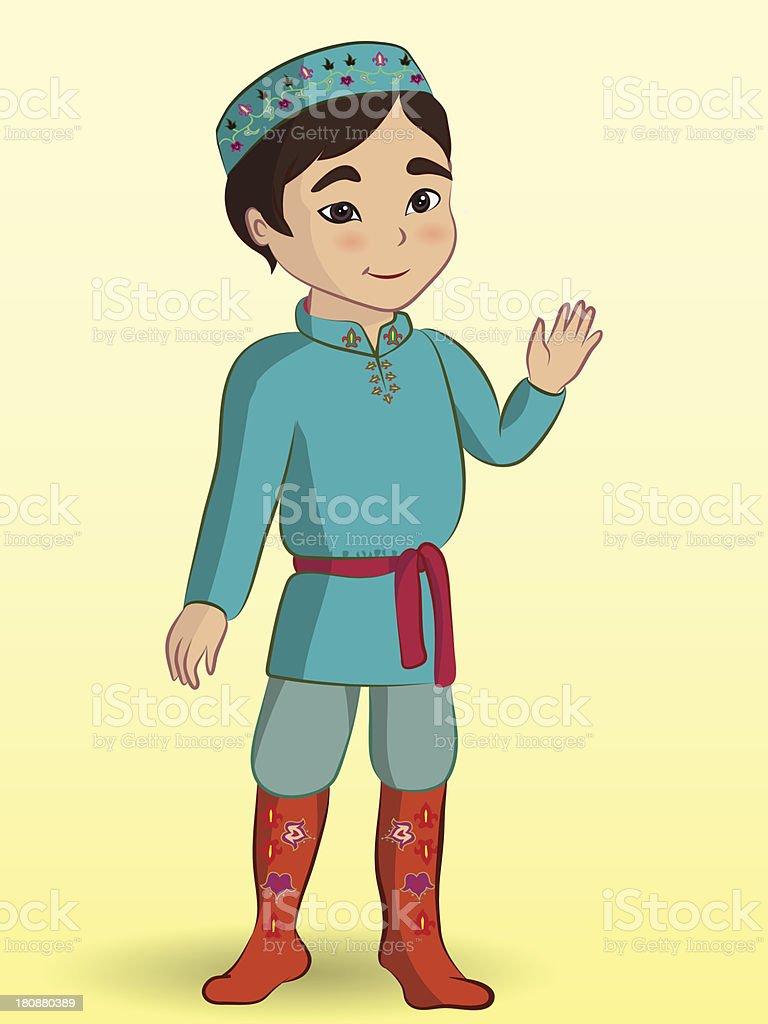 Рисунок мальчика в татарском костюме