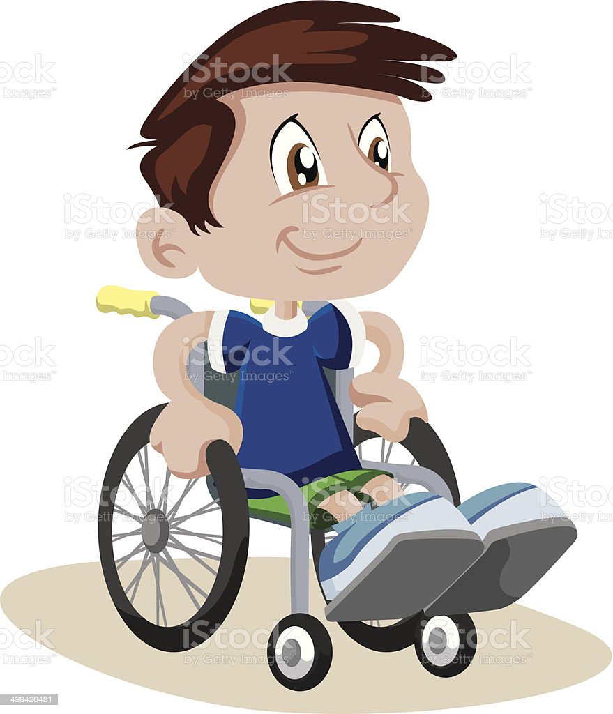 Boy in a Wheelchair royalty-free stock vector art
