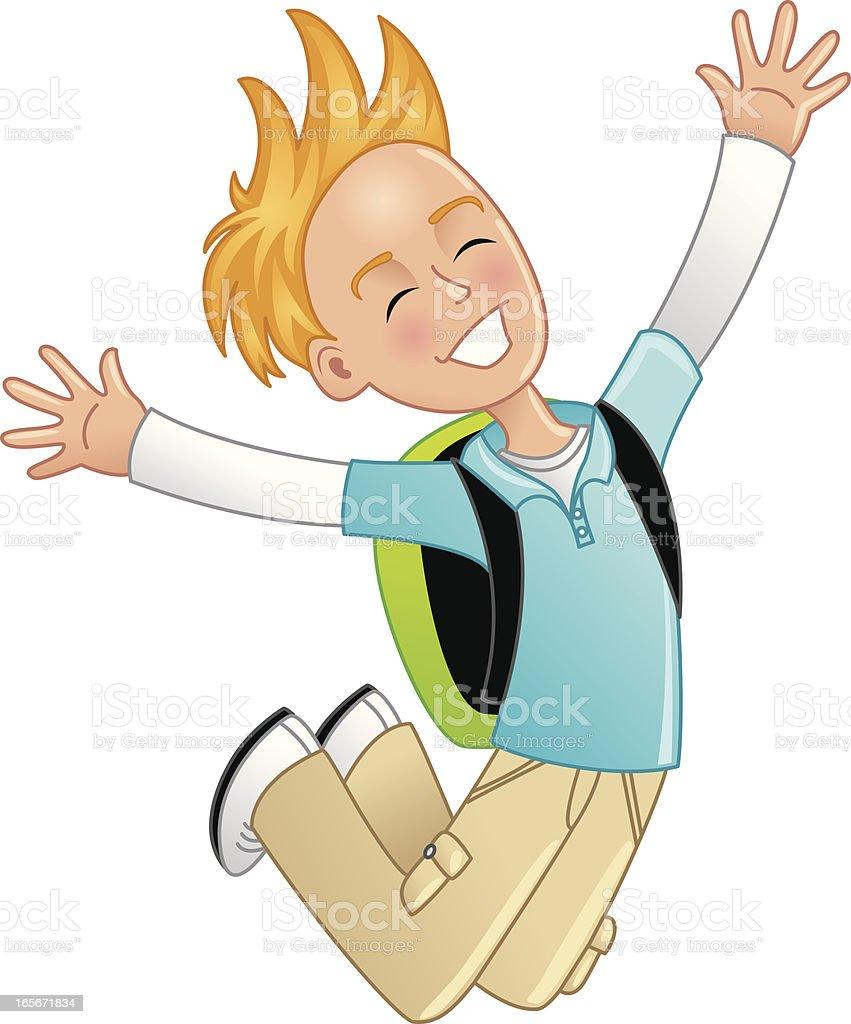 Boy jumping royalty-free stock vector art