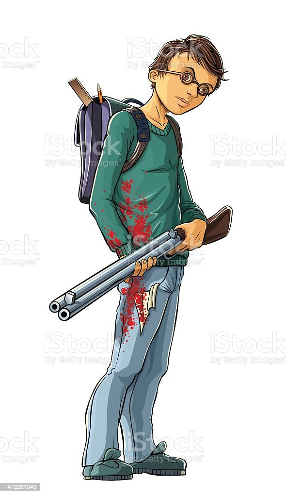 Boy Killer vector art illustration