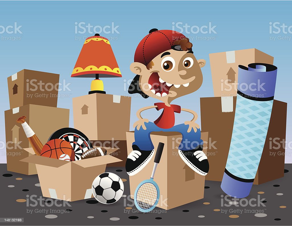 Boy Moving royalty-free stock vector art