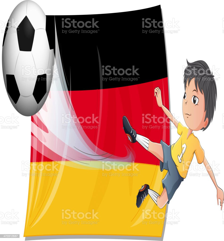 Boy playing football royalty-free stock vector art