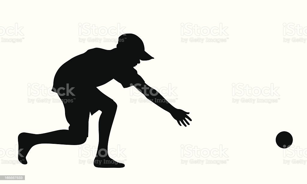 Boy Playing Vector Silhouette royalty-free stock vector art