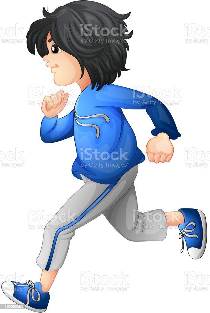 Boy running royalty-free stock vector art