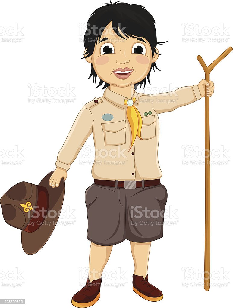Boy Scout Vector Illustration vector art illustration