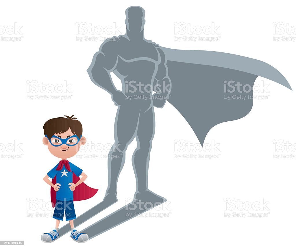 Boy Superhero Concept vector art illustration