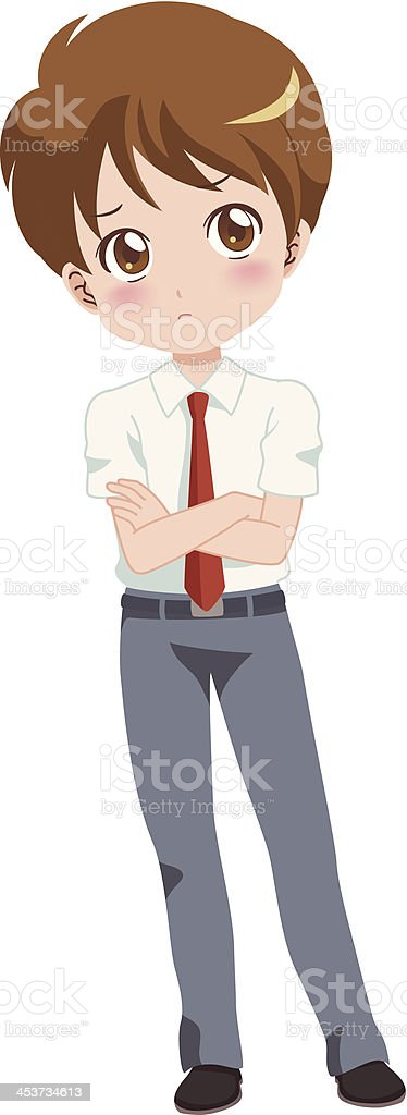boy think royalty-free stock vector art