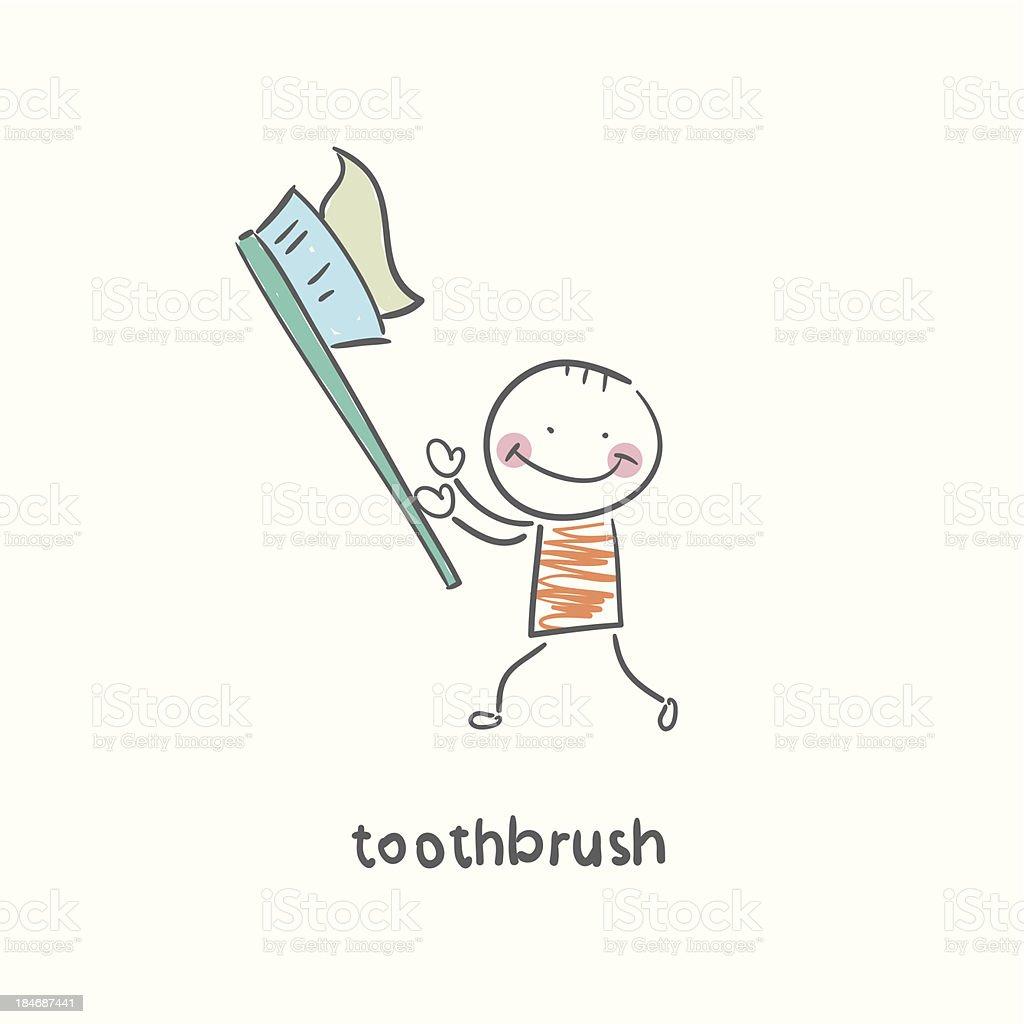 boy toothbrush royalty-free stock vector art