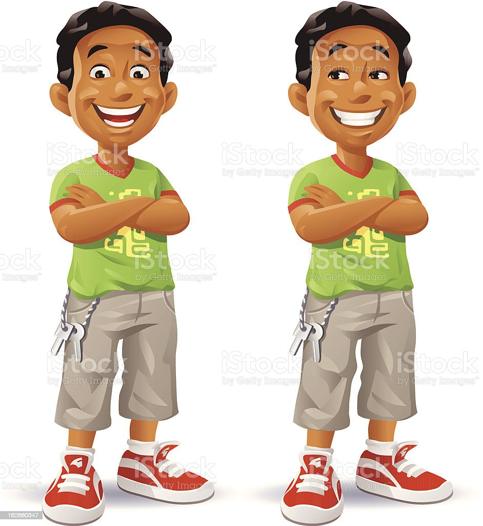 Boy With Arms Crossed royalty-free stock vector art