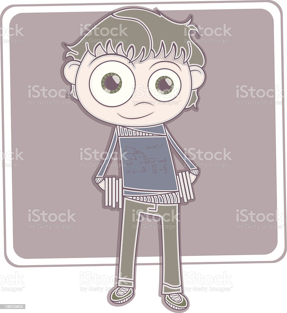 Boy with books royalty-free stock vector art