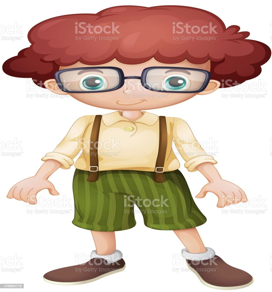 Boy with glasses royalty-free stock vector art