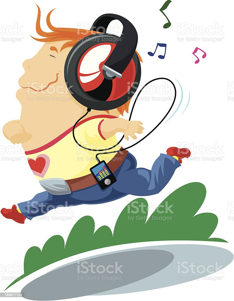 Boy with headphones royalty-free stock vector art