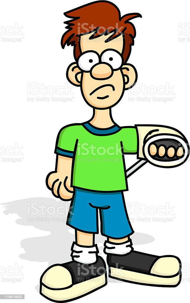 Boy with Injured Arm royalty-free stock vector art