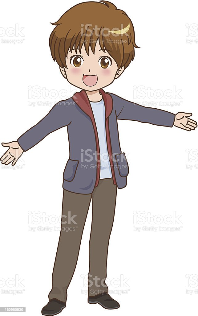 boy_happy royalty-free stock vector art