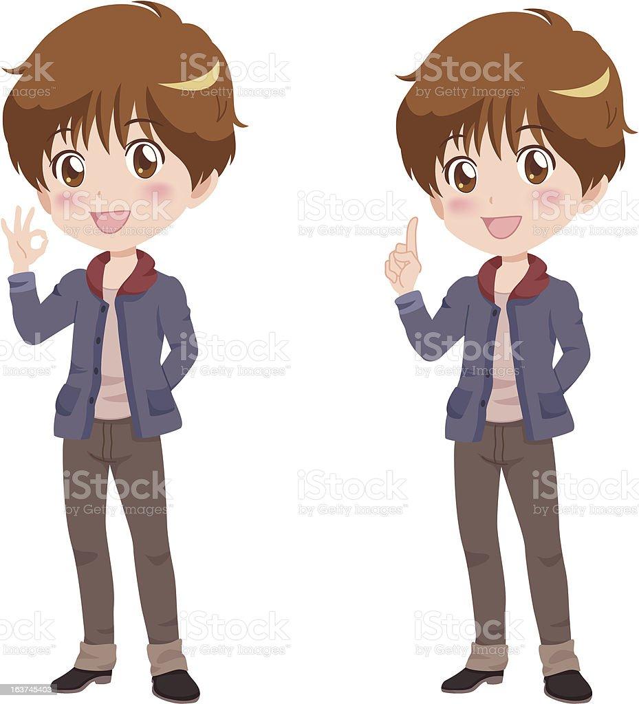 boy_pose royalty-free stock vector art