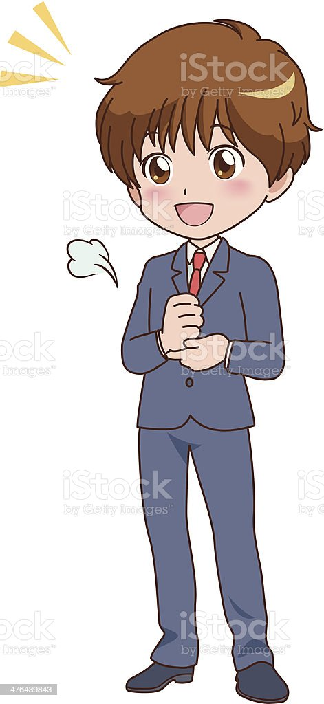 boy_thinking royalty-free stock vector art
