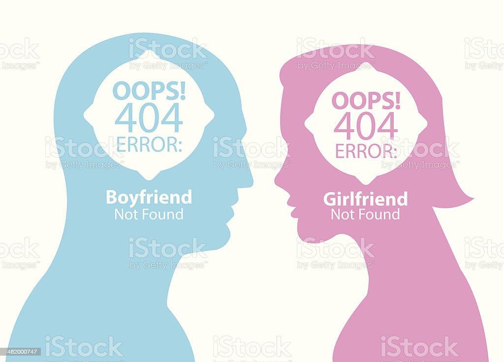 boyfriend and girlfriend not found royalty-free stock vector art