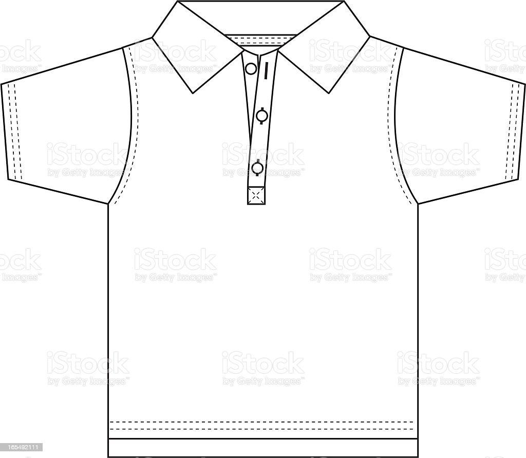 Boys 3 Button Polo Shirt royalty-free stock vector art