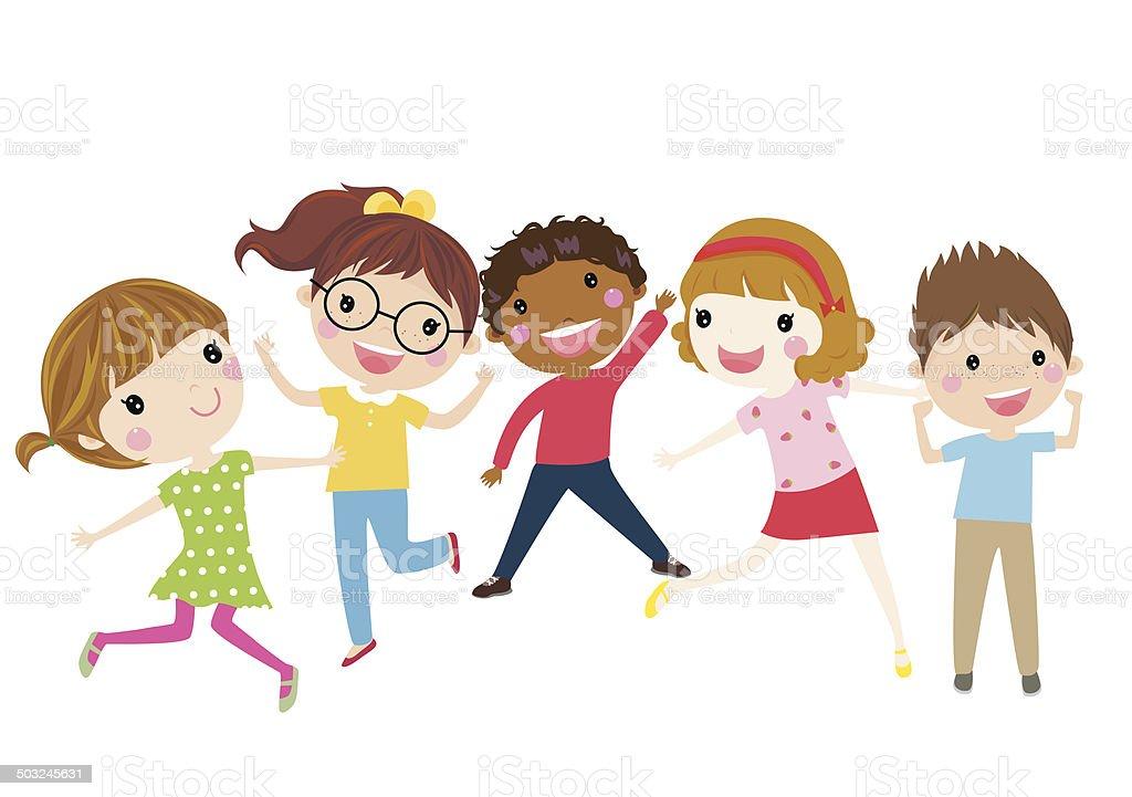 Boys and girls - Illustration vector art illustration
