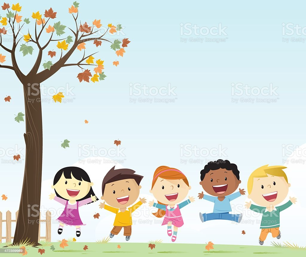 Boys and girls royalty-free stock vector art