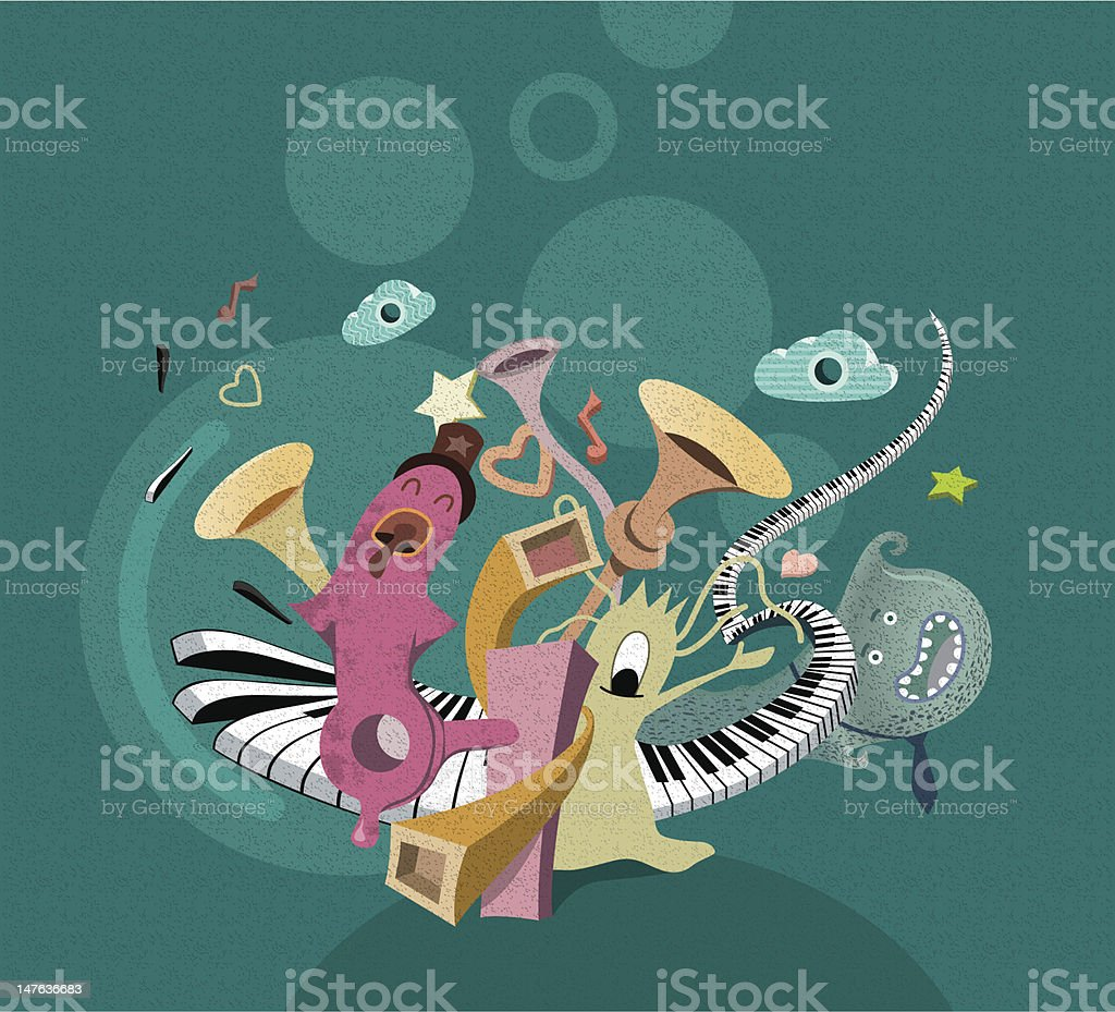 Boys Band royalty-free stock vector art