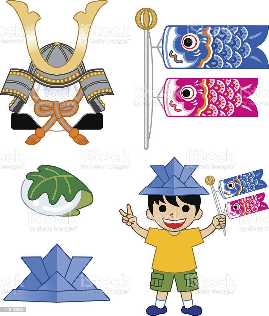 Boys' Festival in Japan royalty-free stock vector art